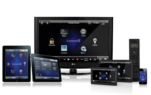 Control4-tv-remote-ts-iPad-iPhone-collage
